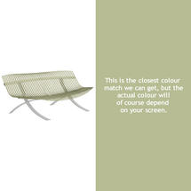 Charivari Bench Steel Grey Frame - Willow Green