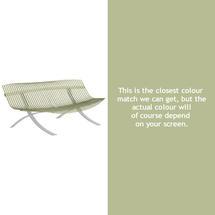 Charivari Bench Steel Grey Frame - Willow Green