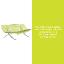 Charivari Bench Steel Grey Frame - Verbena Green