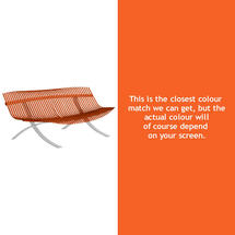 Charivari Bench Steel Grey Frame - Carrot