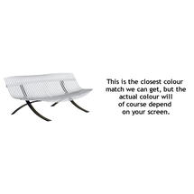 Charivari Bench Liquorice Frame - Cotton White