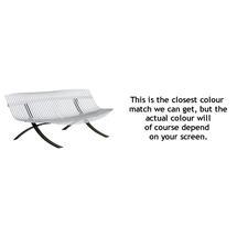 Charivari Bench Liquorice Frame - Cotton White