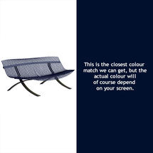 Charivari Bench Liquorice Frame - Deep Blue