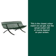 Charivari Bench Liquorice Frame - Cedar Green