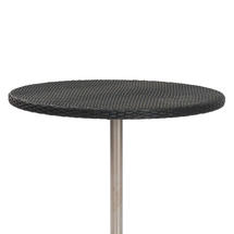 Orleon Woven 120cm Round Table Top with glass top - Slate
