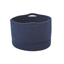 Soft Woven Storage Baskets - Small - Blue