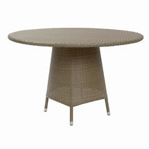 Tarn 120cm Round Dining Table with Parasol Hole - Kubu