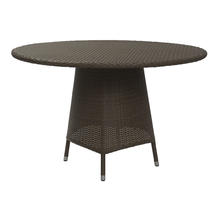 Tarn 120cm Round Dining Table with Parasol Hole - Summer Grass