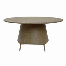 Tarn 150cm Round Dining Table with Parasol Hole - Kubu