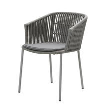 Moments Stackable Grey Dining Chairs - with seat cushion