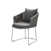 Moments Armchair Grey Dining Chairs - with cushion set