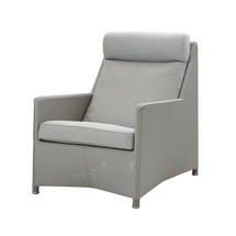 Diamond Highback Chair with All Weather Sunbrella Cushions - Light Grey