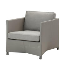 Diamond Lounge Chair with All Weather Sunbrella Cushions -Light Grey