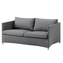 Diamond 2 seater sofa with All Weather Sunbrella Cushions - Grey