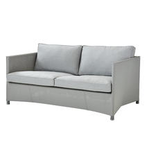Diamond 2 seater sofa with All Weather Sunbrella Cushions - Light Grey