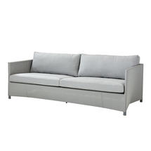 Diamond 3 seater sofa with All Weather Sunbrella Cushions - Light Grey