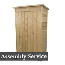 Pent Tall Garden Store with Assembly- Pressure Treated