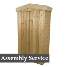 Traditional Shiplap Tall Garden Store with Assembly - Pressure Treated