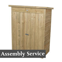 Pent Garden Store with Assembly - Pressure Treated