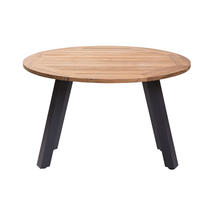Atlantic Dining Table 120cm Round - Anthracite/Teak