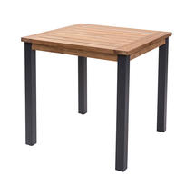 Atlantic Square Table - Anthracite/Teak