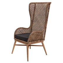 Madagascar High Back Chair in Arabica Weave/Teak