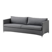 Diamond 3 seater sofa with All Weather Sunbrella Cushions - Grey