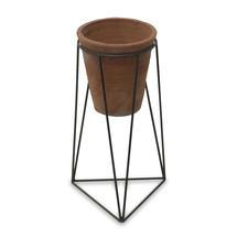 Terracotta Pot on Framework Stand - Medium