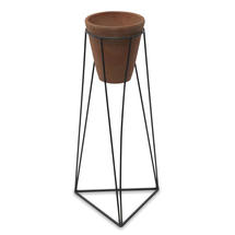 Terracotta Pot on Framework Stand - Large