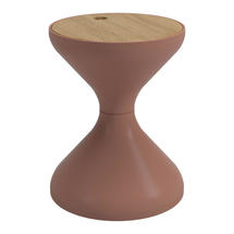 Bells Side Table Buffed Teak - Terracotta