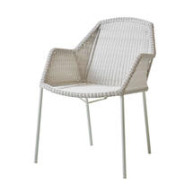 Breeze Dining Armchair Stackable - White/Grey