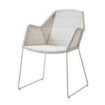 Breeze Dining Armchair - White/Grey