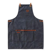 Thick Wax Canvas Apron - Navy