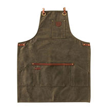 Thick Wax Canvas Apron - Olive