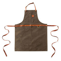 Pure Cotton Oiled Apron - Brown