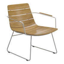 William Lounge Chair with Arms White