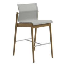 Sway Bar Chair Buffed Teak - White/Seagull
