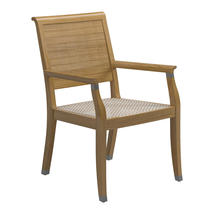Arlington Dining Chair with Arms - Buffed Teak