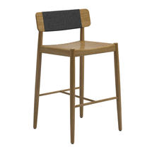 Archi Bar Chair Buffed Teak Raven