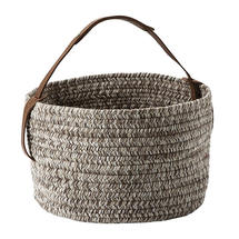 Outdoor Basket with leather handle - Hazel