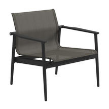 180 Stacking Lounge Chair with Aluminium Arms - Meteor/Granite