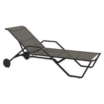 180 Stacking Lounger with Arms - Meteor / Granite Sling