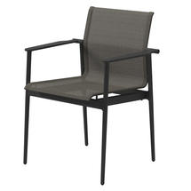 180 Stacking Chair with Aluminium Arms - Meteor/ Granite