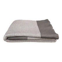 Knitted Throw - Granite