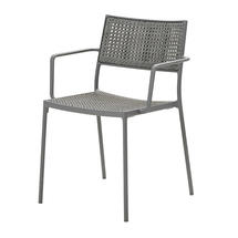 Less Arm Chair with Cane-Line French Weave - Light-grey