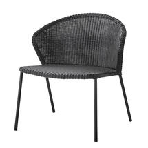 Lean lounge chair, stackable - Black