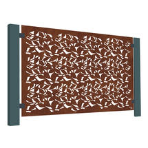 Corten Steel Terrace Screen - Branches