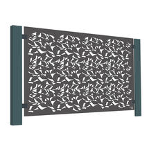 Grey-Brown Aluminium Terrace Screen - Branches