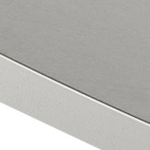 Go Cafe Table with Light Grey Ceramic Table Top 75cm - White Trim