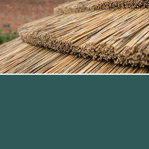 Hexagonal 4.7m Gazebo with Country Thatch Roof - Green Roof Lining